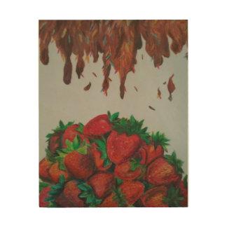 De Aardbeien van het bovenste laagje van de Stroop Hout Afdruk