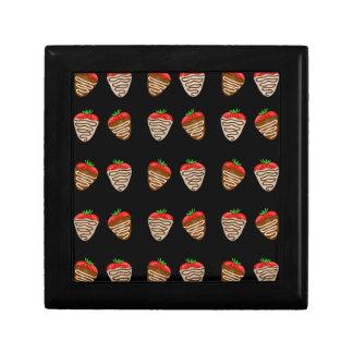 De aardbeienpatroon van de chocolade decoratiedoosje