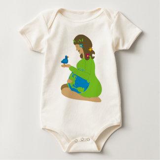 De Aarde van de moeder (Gaia) Baby Shirt