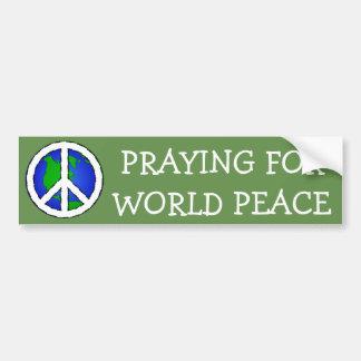 De Aarde van de Vrede van de wereld en de STICKER Bumpersticker