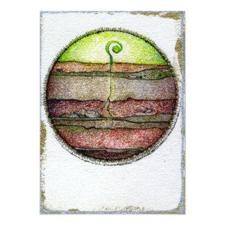 De Aarde van vier Elementen 12,7x17,8 Uitnodiging Kaart