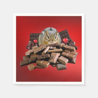 De Aardeekhoorn van de Chocolade van de Papieren Servetten