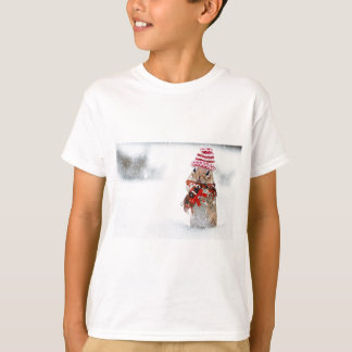 De Aardeekhoorn van de winter breit de Rode T Shirt