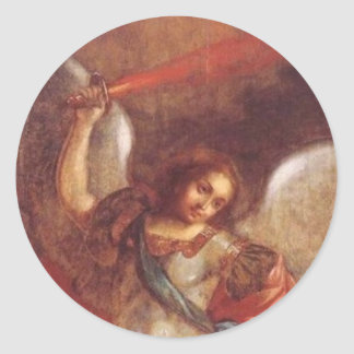De aartsengel St. Mikhail door Vladimir Ronde Sticker