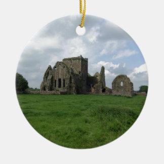 De Abdij het Iers van Ierland Hore ruïneert Rots Rond Keramisch Ornament