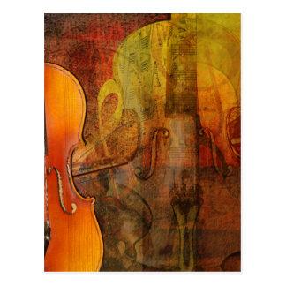 De Abstracte 3 Warme Tonen van de viool Briefkaart