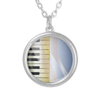 De abstracte Achtergrond van de Muziek Zilver Vergulden Ketting