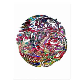 De abstracte Baarzen van Eagle en dragen Briefkaart