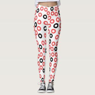 De abstracte beenkappen van het de cirkelsontwerp leggings