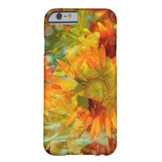 De abstracte Bloemen van de Kleur van de Herfst Barely There iPhone 6 Hoesje