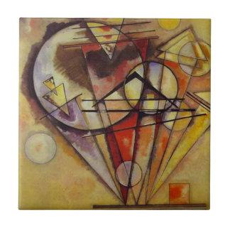 De Abstracte Cirkels van Kandinsky Keramisch Tegeltje