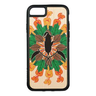 De abstracte Collage van de Oogst van de Herfst Carved iPhone 8/7 Hoesje