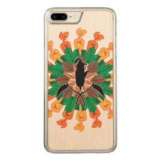 De abstracte Collage van de Oogst van de Herfst Carved iPhone 8 Plus / 7 Plus Hoesje