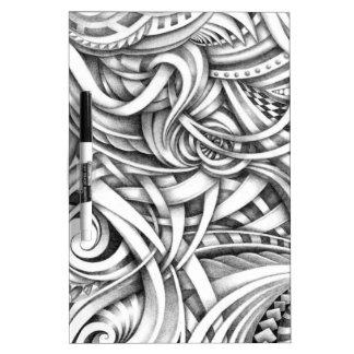 De abstracte die Lijnen van Swirly van de Krabbel Dry Erase Whiteboard