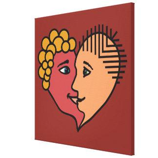 De abstracte druk van het de douanecanvas van canvas afdrukken