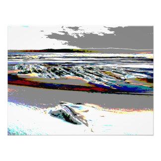De Abstracte druk van het Strand van het Stootbord Foto Afdrukken