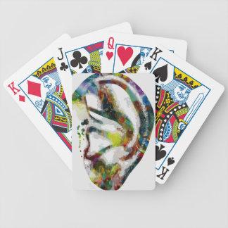 De abstracte Druk van Watercolour van het Oor Poker Kaarten