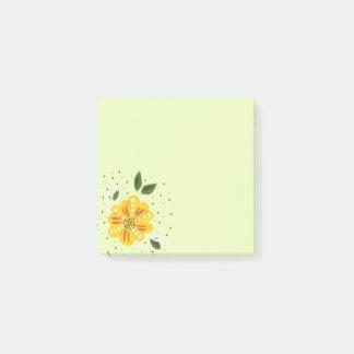De abstracte Gele SleutelbloemBloem van de Lente Post-it® Notes