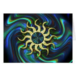 De abstracte Kaart van de Zonnestilstand van de