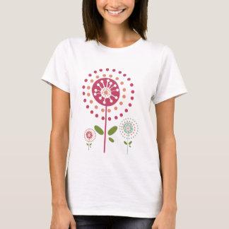 de abstracte kleurrijke paardebloem bloeit stip t shirt