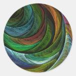 De Abstracte Kunst van de Glorie van de kleur om Ronde Sticker
