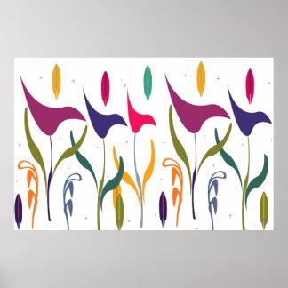 De abstracte Moderne Calla van de Waterverf Indruk Poster