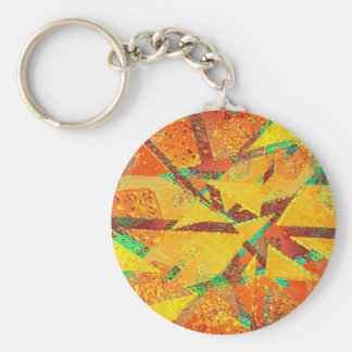 De abstracte Multicolored Warme Achtergrond van Basic Ronde Button Sleutelhanger