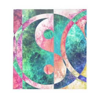 De abstracte Nevel van Yin Yang Notitieblok