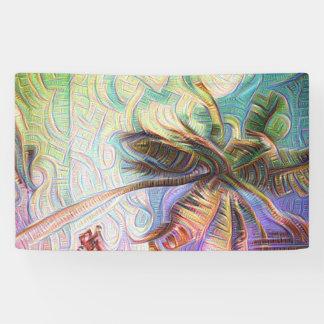 De abstracte Palm van de Regenboog Spandoek