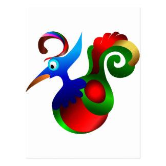 De abstracte Paradijsvogel van de Kunst. Mooi Briefkaart