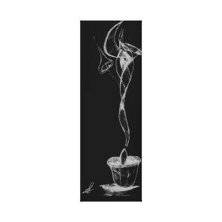 De abstracte Rook van de Kaars Canvas Afdrukken