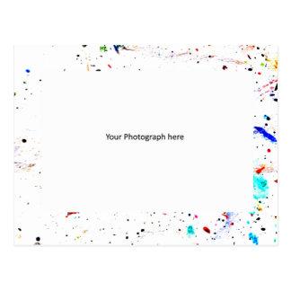 De abstracte Sjabloon van de Foto van de Vlekken Briefkaart