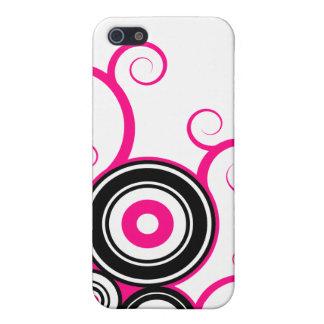 De abstracte vector Roze Zwarte van straatiPhone iPhone 5 Covers