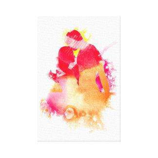 De abstracte Verf van de Liefde Canvas Print