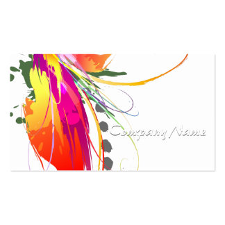 De abstracte Verf van de Paradijsvogel Ploetert Visitekaartjes
