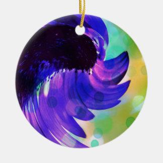 De abstracte Violetkleurige Paarse Werveling van Rond Keramisch Ornament