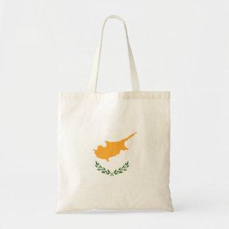 De abstracte Vlag van Cyprus, Cypriotische Kleuren Draagtas