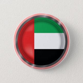 De abstracte Vlag van de V.A.E, de Verenigde Ronde Button 5,7 Cm