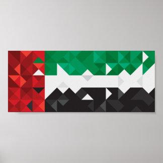 De abstracte Vlag van de V.A.E, het Verenigde Poster