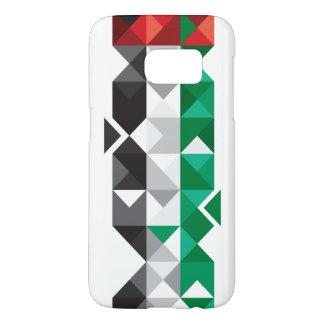 De abstracte Vlag van de V.A.E, het Verenigde Samsung Galaxy S7 Hoesje