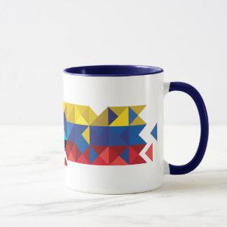 De abstracte Vlag van Ecuador, Republiek Ecuador Mok