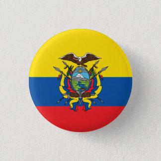 De abstracte Vlag van Ecuador, Republiek van de Ronde Button 3,2 Cm