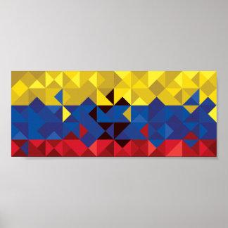 De abstracte Vlag van Ecuador, Republiek van het Poster