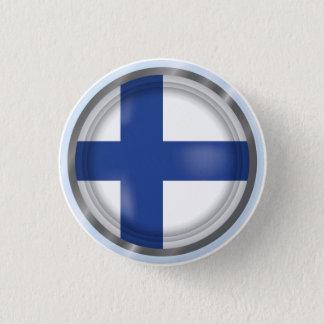 De abstracte Vlag van Finland, de Finse Knoop van Ronde Button 3,2 Cm