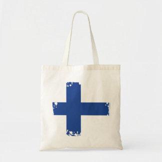De abstracte Vlag van Finland, Finse Kleuren Draagtas