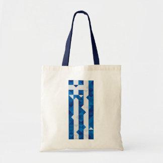 De abstracte Vlag van Griekenland, de Griekse Zak Draagtas