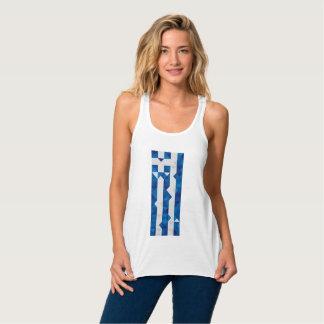 De abstracte Vlag van Griekenland, het Griekse Tanktop