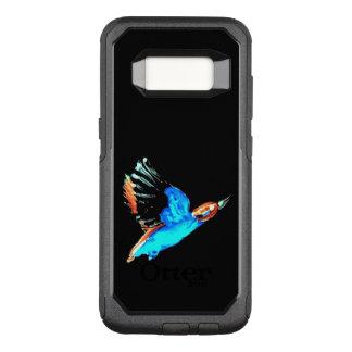 De abstracte Vogel van de Ijsvogel tijdens de OtterBox Commuter Samsung Galaxy S8 Hoesje