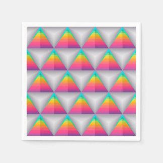 De abstracte Vorm Achtergrond Kleurrijke van de Wegwerp Servet