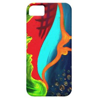 De abstracte vormen van Drippy Barely There iPhone 5 Hoesje